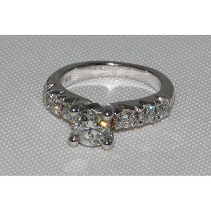 1.85 carat diamonds engagement ring white gold